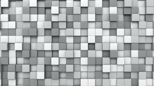 Cover Image for Moving Grey Cubes Mosaic