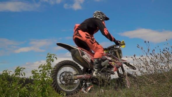 Thumbnail for Motocross Racer Jumping.