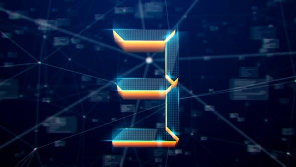 Thumbnail for 3D High Tech Plexus Countdown