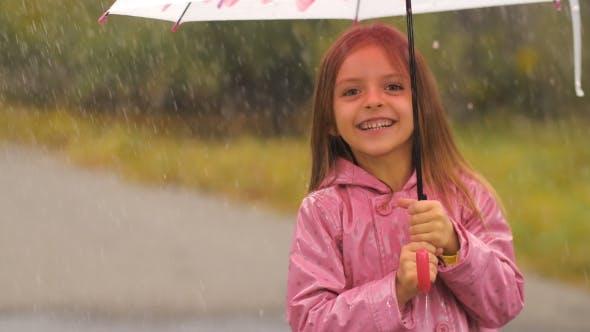 Thumbnail for Little Girl under Rain