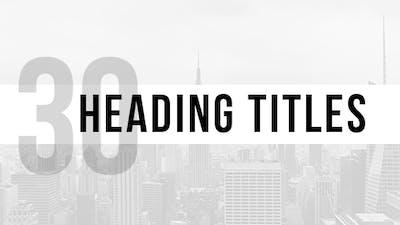 Heading Titles