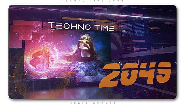 Thumbnail for Techno Time 2049 Media Opener