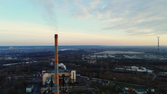 Thumbnail for Garbage Incineration Plant Waste Incinerator Plant with Smoking Smokestack The Problem of