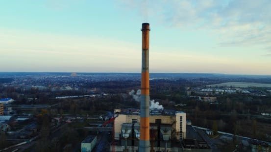 Thumbnail for Garbage Incineration Plant Waste Incinerator Plant with Smoking Smokestack