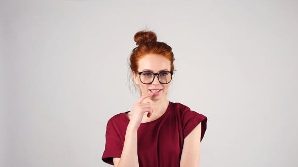 Thumbnail for Portrait of Attractive Redhead Girl