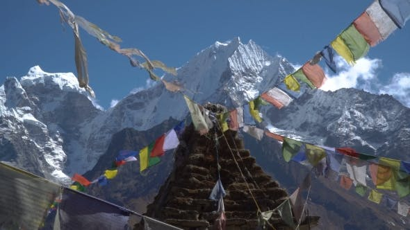 Thumbnail for Buddhist Stupa and Snow Mountain