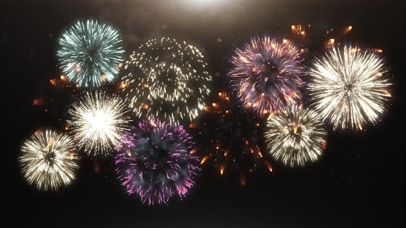 3D Animation of Fireworks