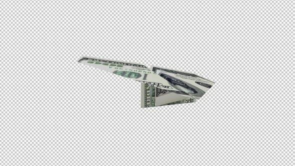 Papierflugzeug - 100 USD Bill - 4K Flying Transition IV
