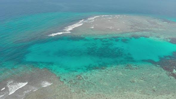 Thumbnail for Aerial: flying over desert beach white beach tropical caribbean sea