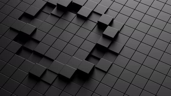 Minimalism Black box animation 3d render