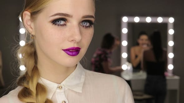 Thumbnail for Beautiful Glamour Girl with Short Blonde Hair.