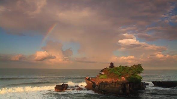 Thumbnail for Pura Tanah Lot Temple Under Rainbow. Bali