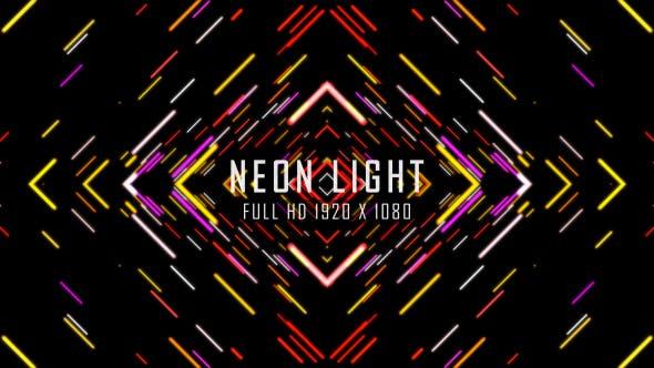 Thumbnail for Neon Light VJ Schlaufen Backgound