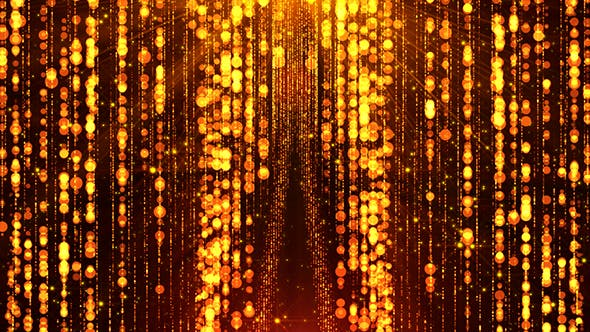 Golden Particles Curtain