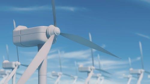 Windmill Blade Rotation for Alternative Energy Wind Turbine
