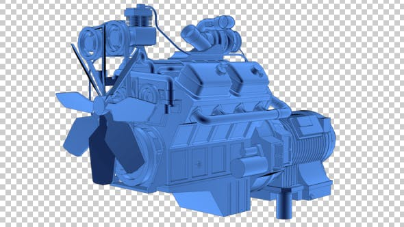 Thumbnail for Car Engine 3D Outline