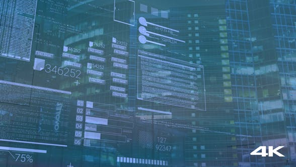 Thumbnail for Computer Background With Elements Of Interface, Coding Or IT Technologies