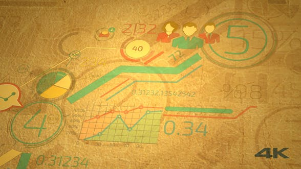 Thumbnail for Growth Of Business Graphs On Old Paper