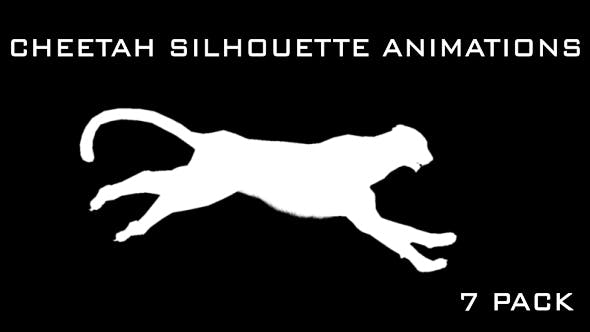 Thumbnail for Cheetah Silhouette Animations - 7 Pack