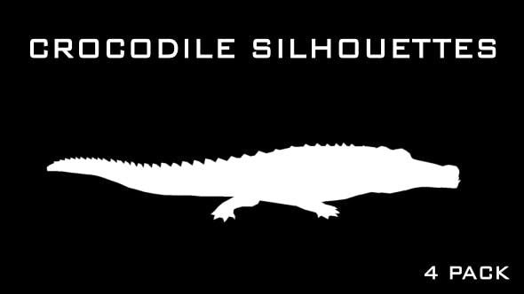Thumbnail for Crocodile - Alligator Silhouettes - 4 Pack