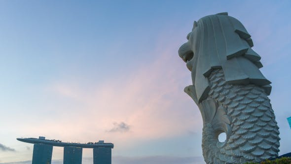 Cover Image for Merlion In Singapore City