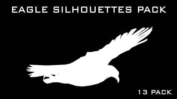 Thumbnail for Eagle Silhouettes - 13 Pack