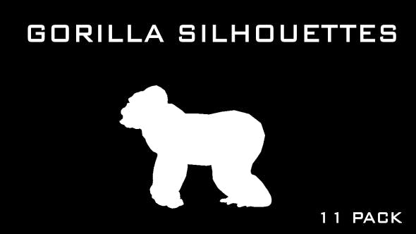 Thumbnail for Gorilla Silhouettes - 11 Pack