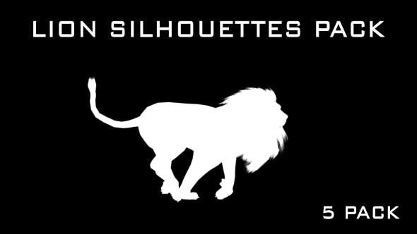 Thumbnail for Lion Silhouettes - 5 Pack