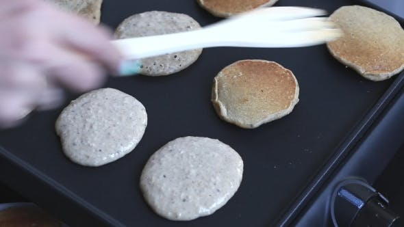 Cooking Home Made Pancakes