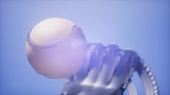 Thumbnail for Baseball and Mitt at Blue Sky Background