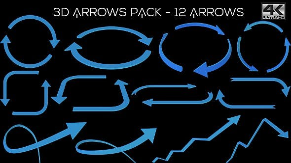 Thumbnail for 3D Arrows Pack Ver.2 - 12 Pack