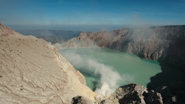 Thumbnail for Kawah Ijen, Volcanic Crater, Where Sulfur Is Mined