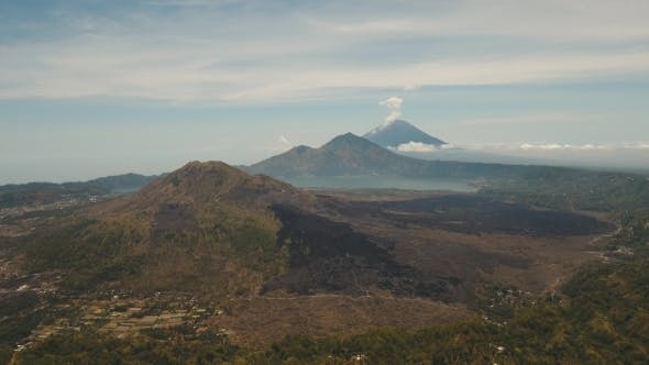 Cover Image for Lake and Volcano Batur, Agung. Bali,Indonesia