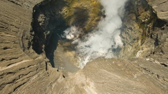 Thumbnail for Active Volcano with a Crater