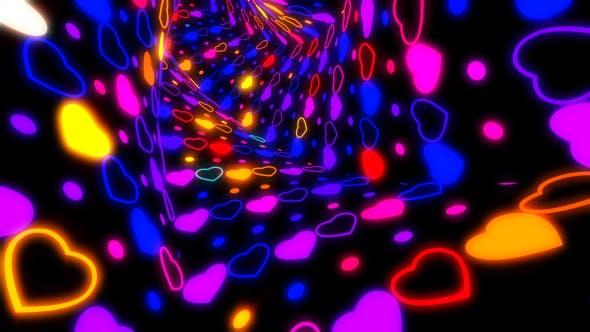 Heart Neon Tunnel