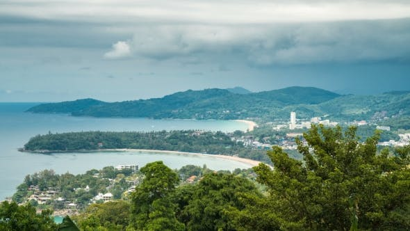 Cover Image for Cloudy Weathervi on the View Point, Karon Beach, Kata Beach, Patong Beach in Phuket Island