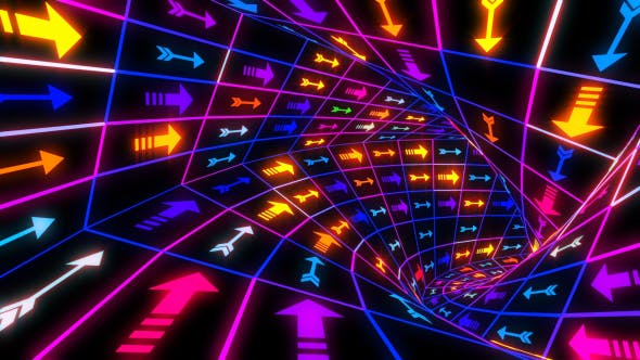 Thumbnail for Arrows Colorful Neon Tunnel