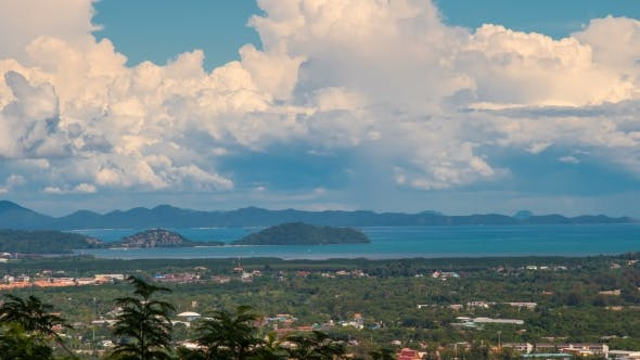 Thumbnail for Cloudy Landscape of Phuket Town View from Rang Hill