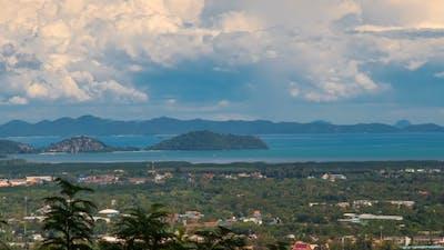 Town Phuket View and Neighboring Islands of Phuket, Thailand
