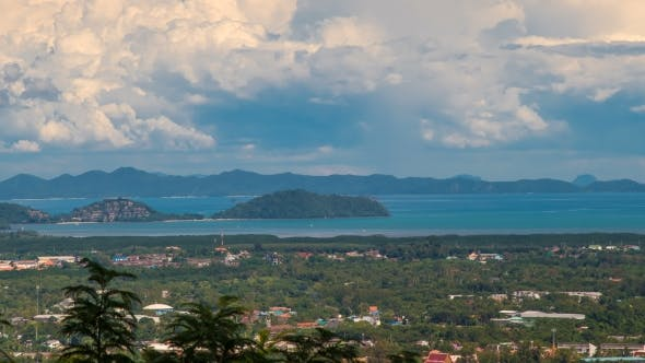Thumbnail for Town Phuket View and Neighboring Islands of Phuket, Thailand