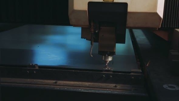 Thumbnail for Cnc Industrial Laser Cutter With Sparks