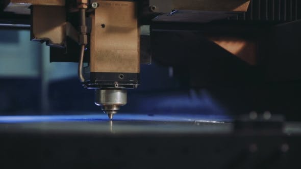Thumbnail for CNC Laser Cutting of Metal Sheet with Sparks