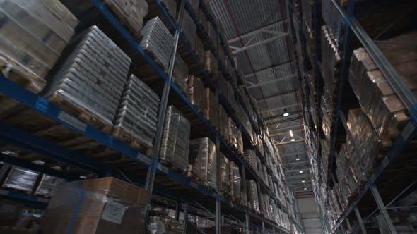 Thumbnail for Logistics Business and Shipping Facility with Forklifts Move Boxes and Parcels