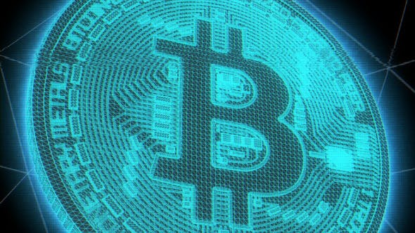 Thumbnail for Bitcoin Digital Glitch Background Loop