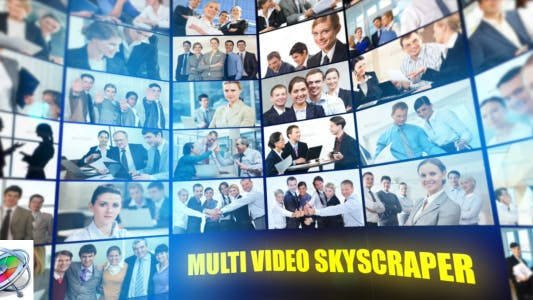 Thumbnail for Multi Video Skyscraper - Corporate Template - Apple Motion