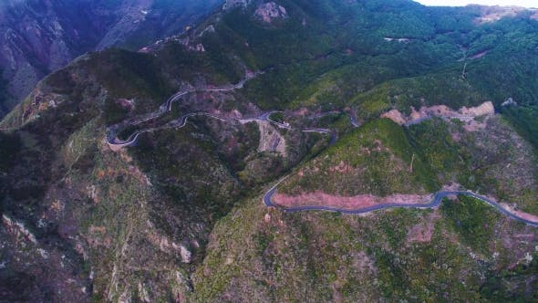 Thumbnail for Road Winding in Mountains