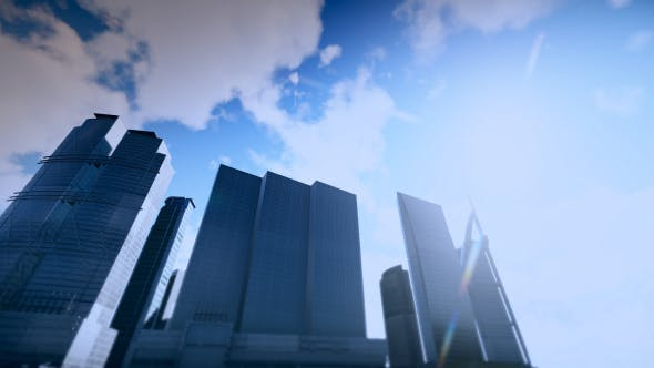 Thumbnail for Business City and Sky Timelapse