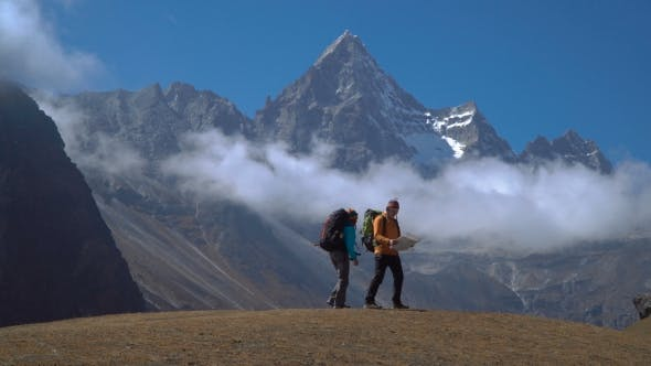 Thumbnail for Hikers Travel in the Himalayan Mountains