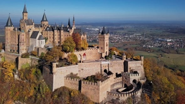 Thumbnail for Flight Around Hohenzollern Castle in Germany