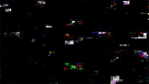 Digital Damage Glitch Noise Screen -  5 Clips